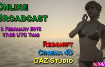C4D Redshift渲染器DAZ人物模型教程  DAZ Studio  Redshift  Tutorial
