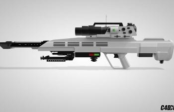 C4D超级武器科幻步枪模型 Super Weapon