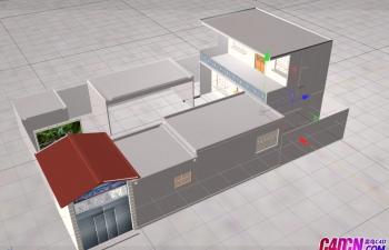 農村庭院模型