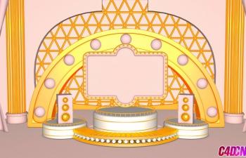 C4D模型 舞台场景下载