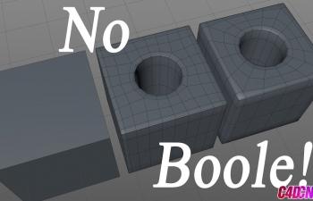 C4D不使用布尔工具制作挖洞效果布线建模C4D教程