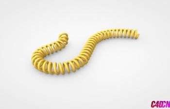 C4D模型 31 电缆电话线模型 Cable