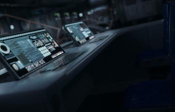 C4D科幻飞船内部场景