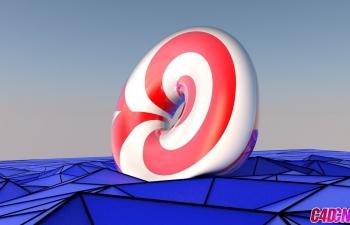 C4D柔体滚动使用Motor Dynamic制作对象低面模动画C4D教程