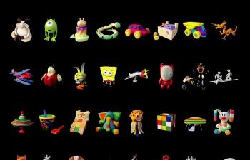 40个卡通玩具模型合集