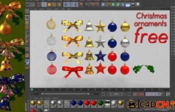 圣诞节装饰品模型合集Christmas decorations