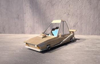 C4D低面模卡通小汽车模型