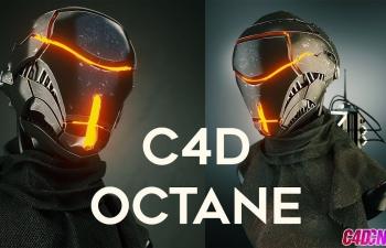Octane渲染器机器人钢铁金属布料写实逼真材质渲染C4D教程