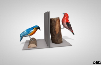 C4D模型 小鸟装饰