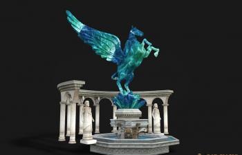飞马水池模型