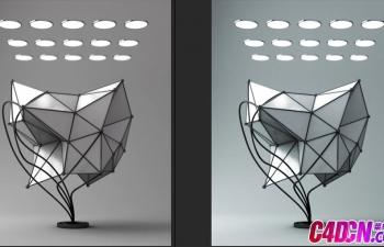 C4D教程 金属不锈钢材质艺术立体装饰品建模渲染教程