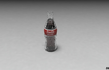 C4D可口可乐瓶模型