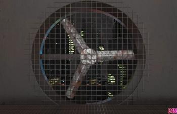 C4D模型城市工业风扇动画工程文件