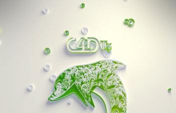 怎样用C4D快速制作简约图案效果