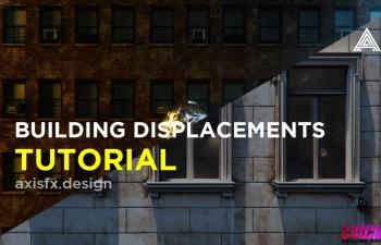 C4D octan教程 2D建筑贴图三维材质置换渲染立体效果教程 2D Buildings to 3D Building Displacements - Cinema 4D & Octane Render