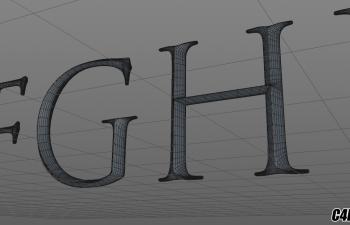 C4D模型 古罗马方块大写英文字母字体模型 CAPITALIS MONUMENTALIS FONT MODEL