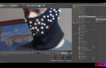 C4D R18跟踪工具制作人物面部追踪效果教程 3D Object Tracking Tutorial! (Cinema 4D R18)