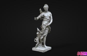 C4D模型 古罗马人物女性雕塑模型