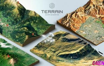 谷歌地图配合PS制作三维3D地图地形图CG教程