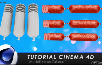 CINEMA 4D教程——香肠红肠建模分UV与贴图