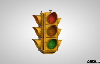 C4D交通灯模型 Traffic Light