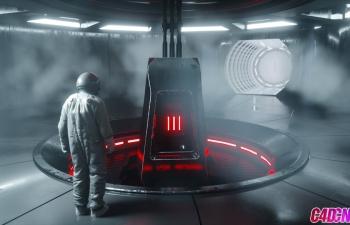 Cinema 4D教程-Otoy Octane渲染概述科幻风格室内灯光环境教程
