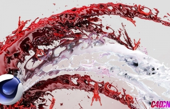 C4D+Realfow制作血迹液体喷射轨迹教程