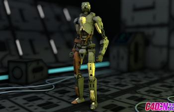 機器人工廠C4D模型含動畫