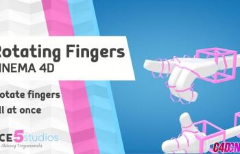 C4D简单手指绑定蜷曲动画C4D教程