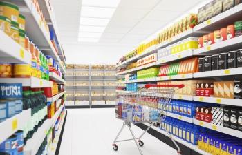 C4D模型 超市食物货架冰箱饮料机购物车收银台模型合集