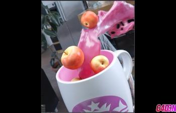C4D教程 七喜C4D广告包装 水果牛奶RF流体特效教程