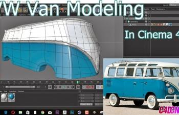 C4D教程 复古老式大众汽车车壳建模教程
