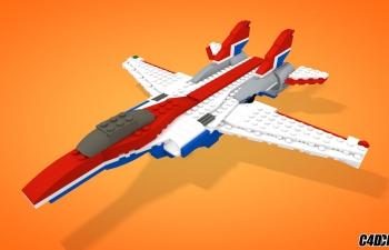 C4D 乐高战斗机玩具模型