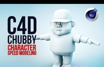 C4D教程 胖男孩布线建模教程(倍速) C4D Character Speed modeling - Chubby