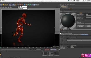 GSG327.Cinema 4D教程 - 使用Motion Capture和Cinema 4D制作有灯光泽的机器人角色动画