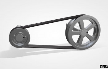 C4D预设 电动滑轮传送带脚本预设汉化版 Cineversity Pulley Tool
