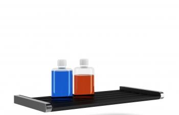 C4D模型 洗手间墙挂式置物架洗发露瓶子模型