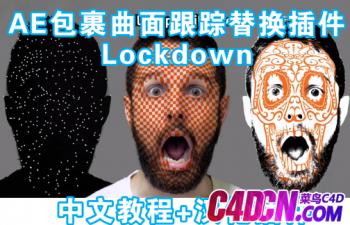 中文 包裹曲面跟蹤替換AE插件Aescripts Lockdown 教程