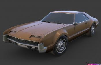 1967年款oldsmobile toronado老式超级跑车超跑汽车轿车C4D模型