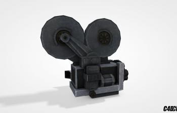C4D复古摄像机模型