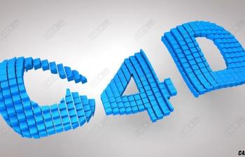 C4D教程- 3D方块动画教程