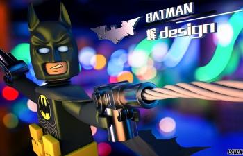 C4D模型 卡通Q版蝙蝠侠 英雄 人物模型