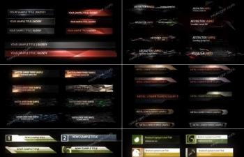 100余枚经过精心设计的字幕导条动画素材AE模板