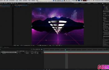 GSG304.如何在Cinema 4D After Effects和Photoshop中创建复古动画GIFC4D教程