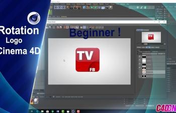 C4D教程 制作一个立体3D电视台图标建模渲染教程