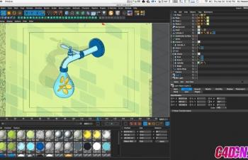 如何使用素描和卡通的Spot Shader应用低俗材质C4D教程 How to Apply Grungy Materials Using Sketch & 卡通's Spot Shader
