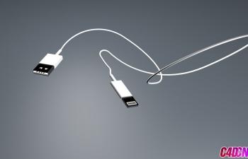 苹果手机数据线建模C4D教程
