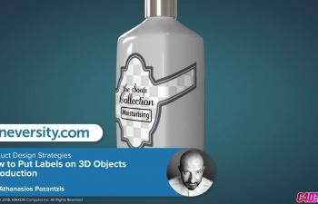 C4D教程 UV贴图纹理制作瓶子瓶贴教程