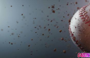 GSG152使用Cinema 4D和Physical 渲染er制作棒球简介C4D教程