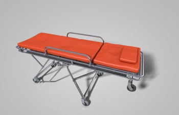 C4D急救担架模型Emergency Stretcher